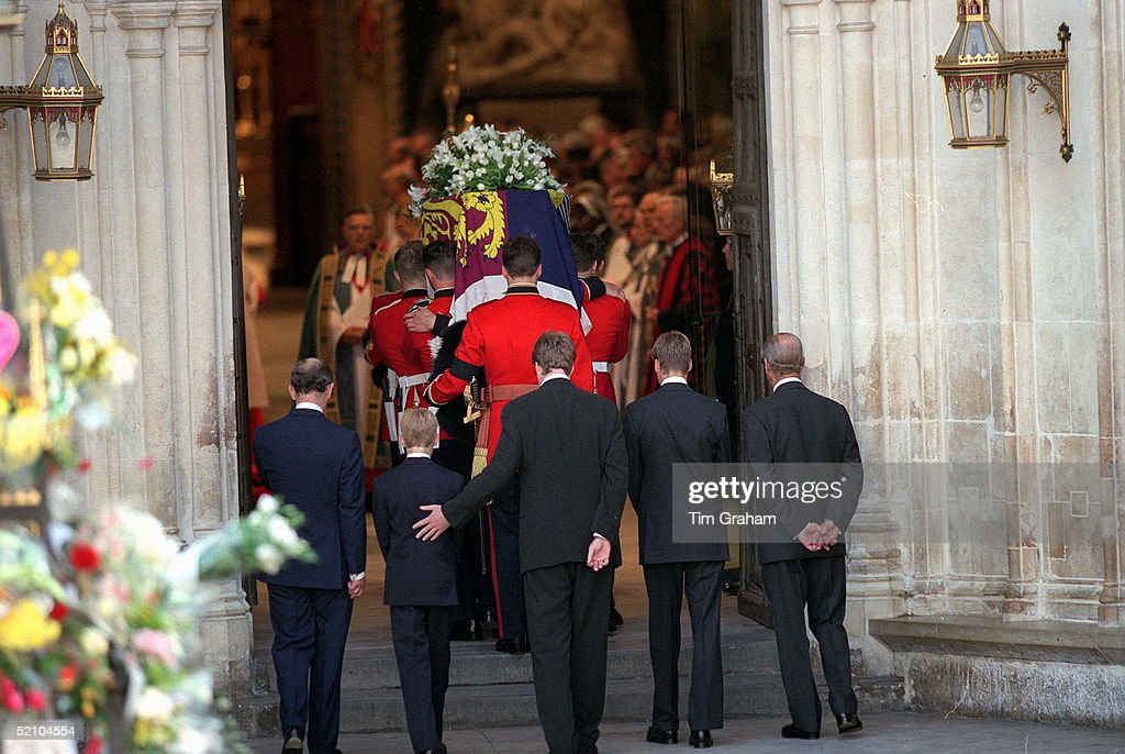 The Funeral Of Diana, Princess Of Wales. Prince Philip ...