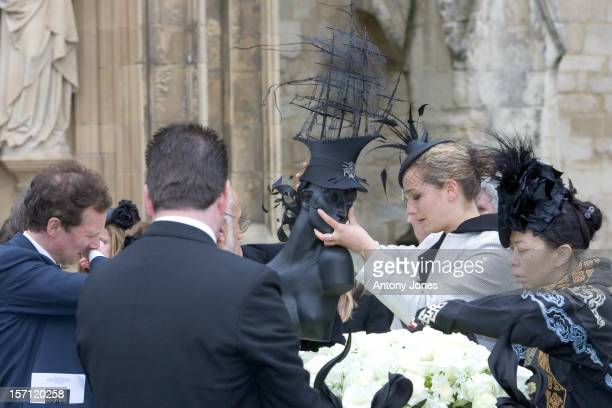 The Funeral Of Fashion Stylist Isabella Blow Held At Gloucester Cathedral