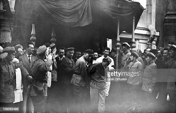 The funeral of Felix Edmundovich Dzerzhinsky in Moscow July 1926 He was the founder of the Bolshevik secret police the Cheka later the KGB Joseph...