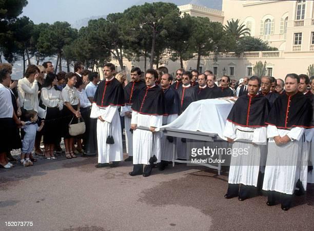 The funeral of Grace Kelly in Monaco on September 18 1982 in Monaco