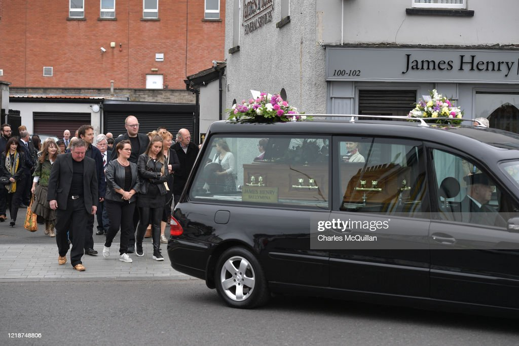 Mother Of Actor Liam Neeson Is Buried During Coronavirus Pandemic : News Photo