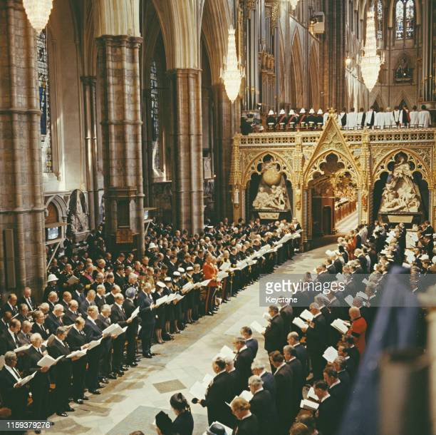 The funeral of Lord Louis Mountbatten in Westminster Abbey London 5th September 1979 Mountbatten had been killed by an IRA bomb in Ireland
