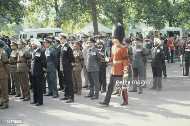 The funeral of Lord Louis Mountbatten in Westminster Abbey London England 5th September 1979 Mountbatten had been killed by an IRA bomb in Ireland