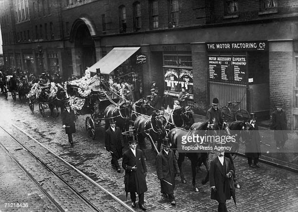 The funeral of Luigi Franco, the Ice Cream King, at Saffron Hill in London, 5th May 1914.