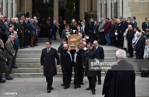 The funeral of murdered journalist Lyra McKee takes place at St Anne's Cathedral on April 24 2019 in Belfast Northern Ireland Lyra McKee aged 29 was...