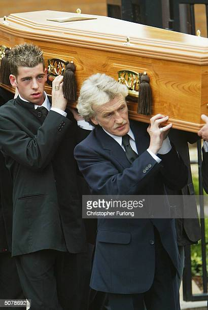 The funeral of murdered Scottish teenager Kriss Donald takes place at The Church Jesus Christ of Latter Day Saints, on April 30, 2004....