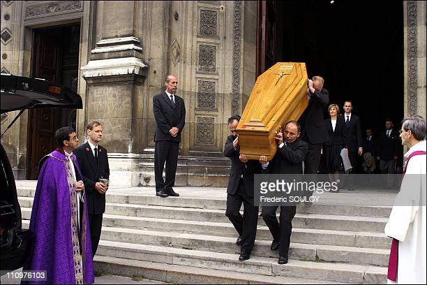 The funeral of Philippe Amaury at the church of St Francis Xavier in Paris France on May 31st 2006