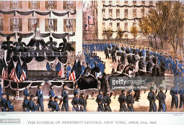 The Funeral of President Lincoln New York April 25th Lithograph Currier Ives 1865