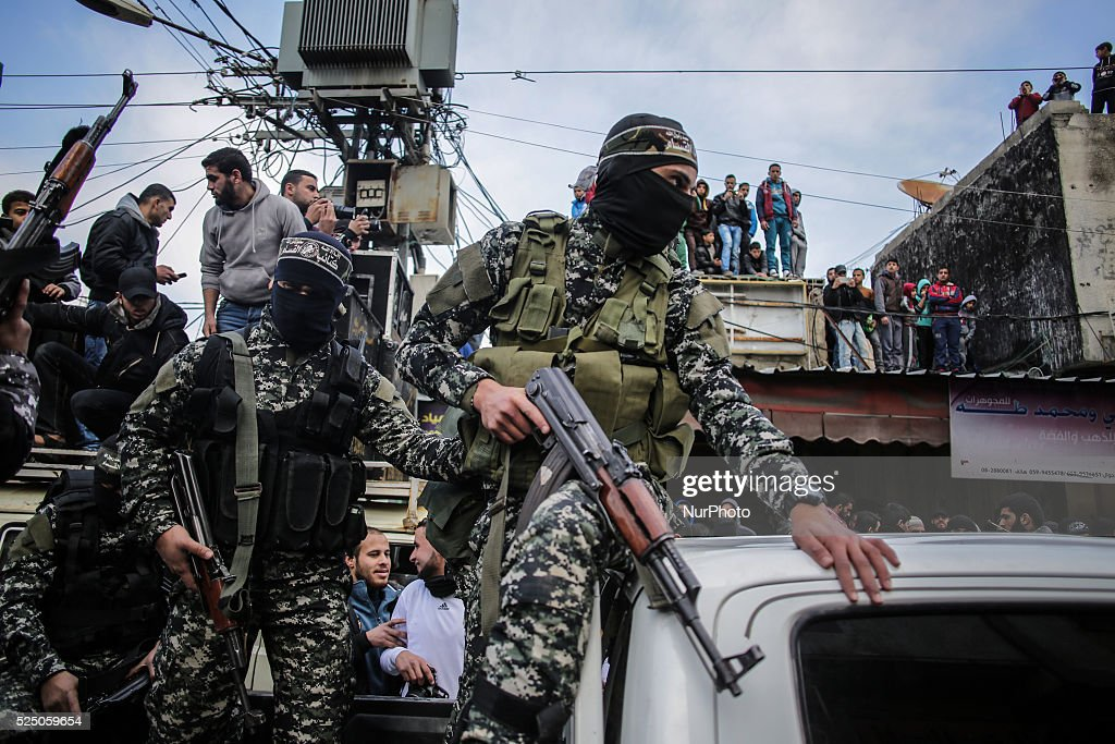 Funeral of Hamas gunmen in Gaza : News Photo