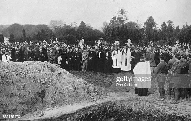 The funeral of some of the Lusitania victims at Queenstown' 1915 From The Manchester Guardian History of the War Vol II 191415 [John Heywood Ltd...