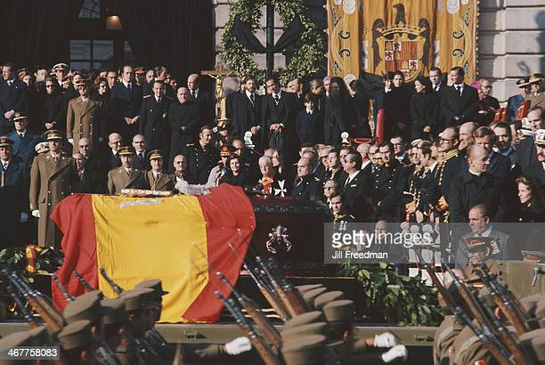 The funeral of Spanish dictator Francisco Franco in Madrid Spain 23rd November 1975
