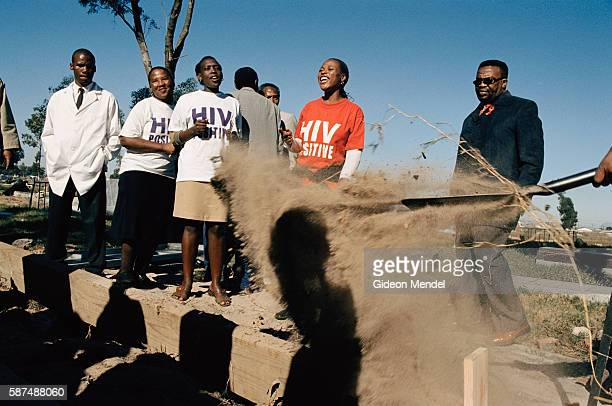 The funeral of TAC activist in Gugelethu Township near Cape Town Ntombuzuko Kwaza a 34yearold HIV positive TAC activist on antiretroviral treatment...