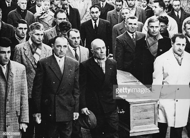 The funeral of the french writer and philosopher Albert Camus. Marseille. 6 January 1960. Photograph.