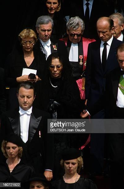 The Funeral Of The Princess Grace Of Monaco A Monaco à la Cathédrale SaintNicolas le 18 septembre 1982 lors de la cérémonie des obsèques de la...