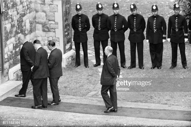 The funeral of the three police officers Christopher Head David Wombwell and Geoffrey Fox who were shot when they stopped to question the three...