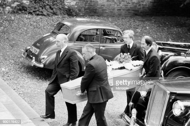 The funeral of Yorkshire Ripper victim Barbara Leach held at Kettering Parish Church, 24th September 1979.