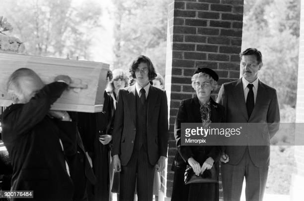 The funeral of Yorkshire Ripper victim Barbara Leach held at Kettering Parish Church. Barbara's Parents, David and Beryl Leach watch alongside her...