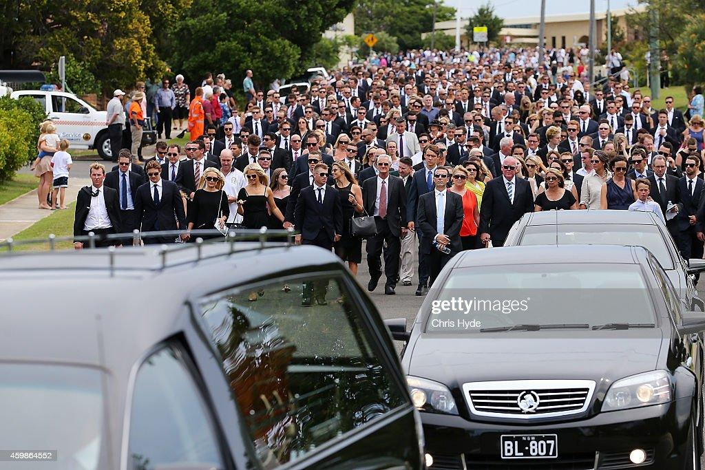 Phillip Hughes Funeral : News Photo