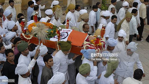 The funeral procession of late Rajmata Gayatri Devi in Jaipur on Thursday, July 30, 2009.