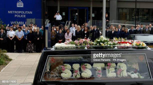 The funeral procession of murdered Special Constable Nisha PatelNasri passes Wembley Police Station in North West London as it makes its way towards...