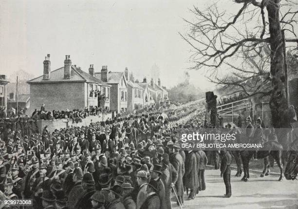 The funeral procession of Queen Victoria going through Cowes Isle of Wight February 2 England photo by Valerian Gribayedoff from L'illustrazione...