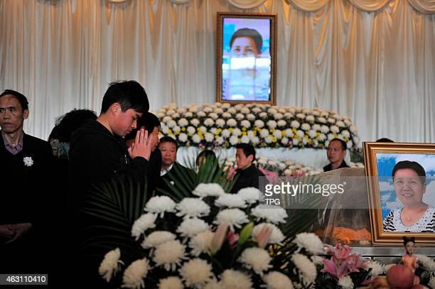 The funeral ritual of TransAsia Air crash victim is holding on 10th February 2015 in Xiamen Fujian China