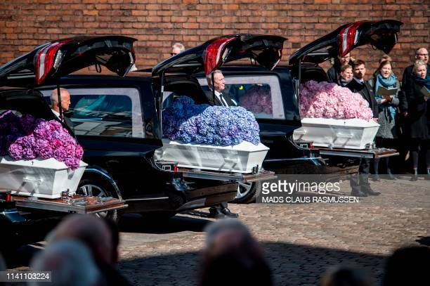 TOPSHOT The funeral service for the three children of CEO of clothing brand Bestseller Anders Holch Povlsen and wife Anne who were victims of the...