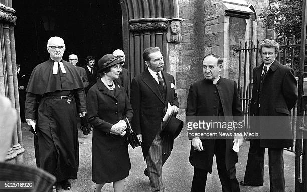 The Funeral Service held in St Patrick's Cathedral for the British Ambassador Christopher EwartBiggs who was killed in the explosion at Murphystown...