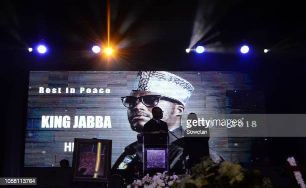 The funeral service of the late musician Jabulani 'HHP' Tsambo at Mmabatho Convention Centre on November 03, 2018 in Mahikeng, South Africa. HHP...