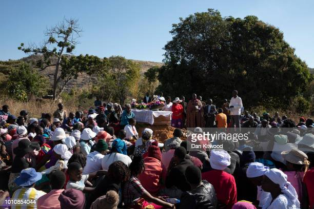 The funeral takes place for father of four Ishmael Kumire on August 4 2018 in Chinamhora Zimbabwe Ishmael was killed during deadly clashes on August...