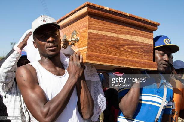 The funeral takes place for Ishmael Kumire on August 4 2018 in Chinamhora Zimbabwe Ishmael was killed during deadly clashes on August 01 Latest...
