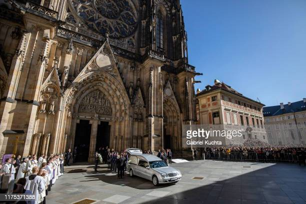 The funeral with state honours of late Czech singer Karel Gott at St. Vitus Cathedral on 12 October, 2019 in Prague, Czech Republic. Karel Gott...
