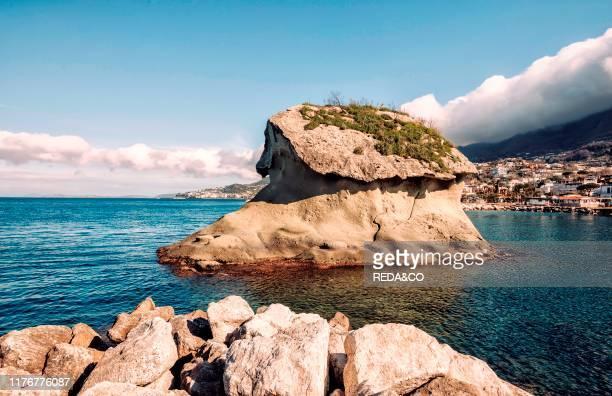 The Fungo sea rock Lacco Ameno Ischia Campania Italy Europe