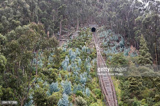 The Funicular to Monserrate in Bogota Colombia