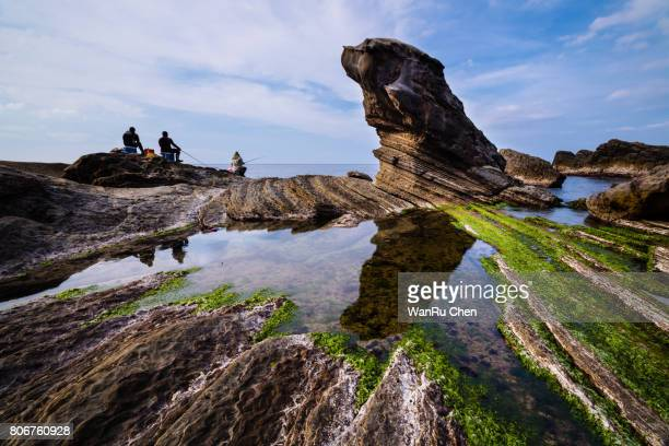 The Fur Seal Rock on a beautiful beach