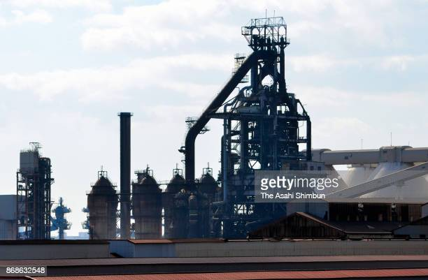 The furnace of Kobe Steel Works of Kobe Steel halts operation on October 31 2017 in Kobe Hyogo Japan