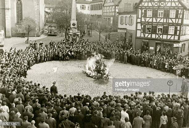 The furnishings and ritual objects from the synagogue in Mosbach on the town square on 10 November 1938 Found in the collection of State Museum of...