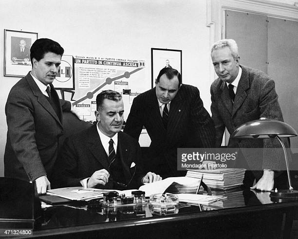 The future Italian senator Umberto Bonaldi, Italian deputy and vice general secretary Alberto Ferioli, Italian deputy and vice general secretary...