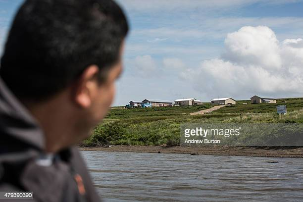 The future location of Newtok village which is having to be relocated to Nelson Island is seen on July 2 2015 near Newtok Alaska Newtok has a...
