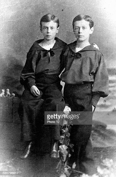 The future Nicholas II of Russia and his brother Grand Duke George Alexandrovich