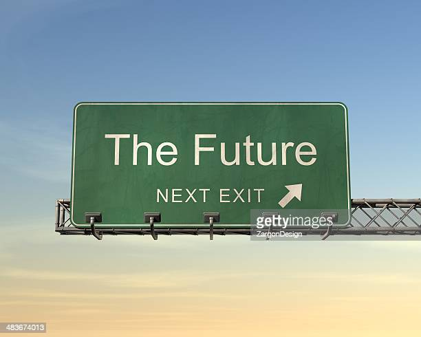 the future - road sign stock pictures, royalty-free photos & images