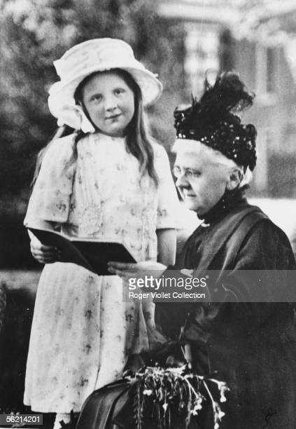 The future queen Juliana of Netherlands and her grand-mother, Emma of Waldeck-Pyrmont, wife of William III, about 1920.