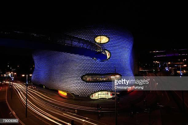 The futuristic landmark Selfridges store in Birmingham dominates the skyline of the city's Bullring Shopping Centre on 15 January 2007 Birmingham...