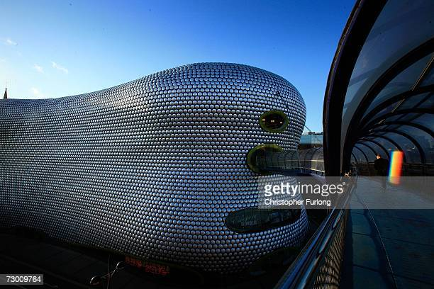 The futuristic landmark Selfridges store in Birmingham dominates the skyline of the city's Bullring Shopping Centre on 15 January 2007 Birmingham...
