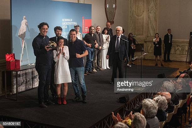 The Gabinete de Arquitectura receives the Golden Lion for the best participant to 15 Show REPORTING FROM THE FRONT at the official opening ceremony...