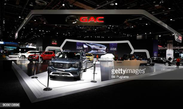 The GAC exhibit is shown at the 2018 North American International Auto Show January 16 2018 in Detroit Michigan More than 5100 journalists from 61...
