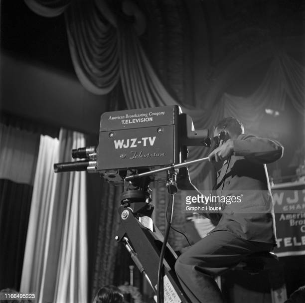 The gala opening of WJZTV by the American Broadcasting Company at the RKO Palace Theater in New York City 10th August 1948