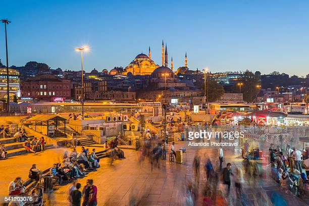 The Galata Bridge is a very popular place to eat fresh fish