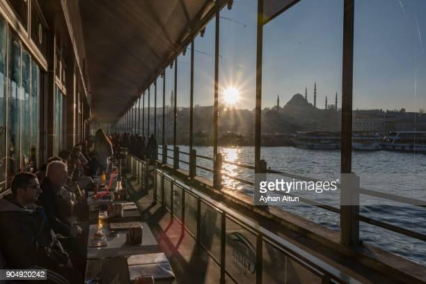 The Galata Bridge,Istanbul,Turkey