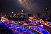 galaxy shanghai city china